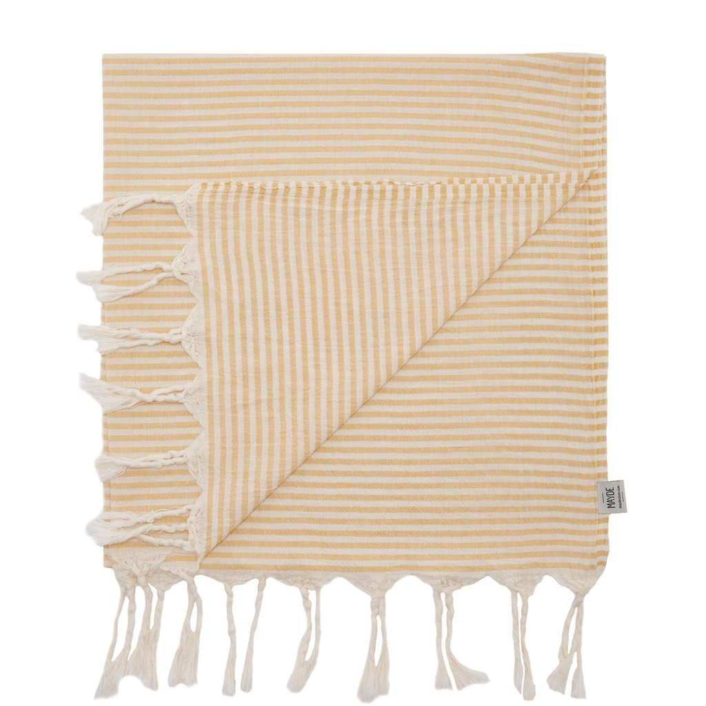 Mayde Noosa Turkish Towel - Mustard