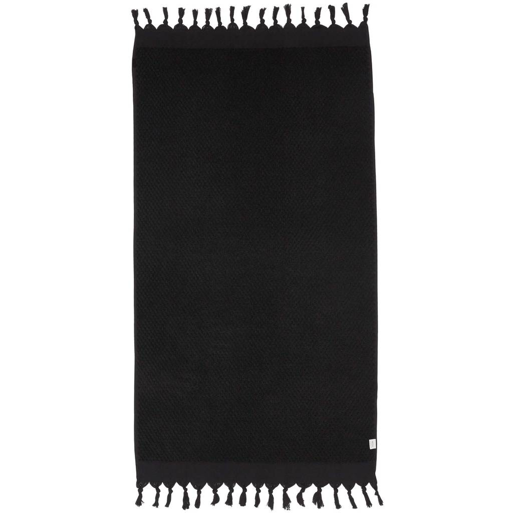 Mayde Rainbow Solid Towel // Black