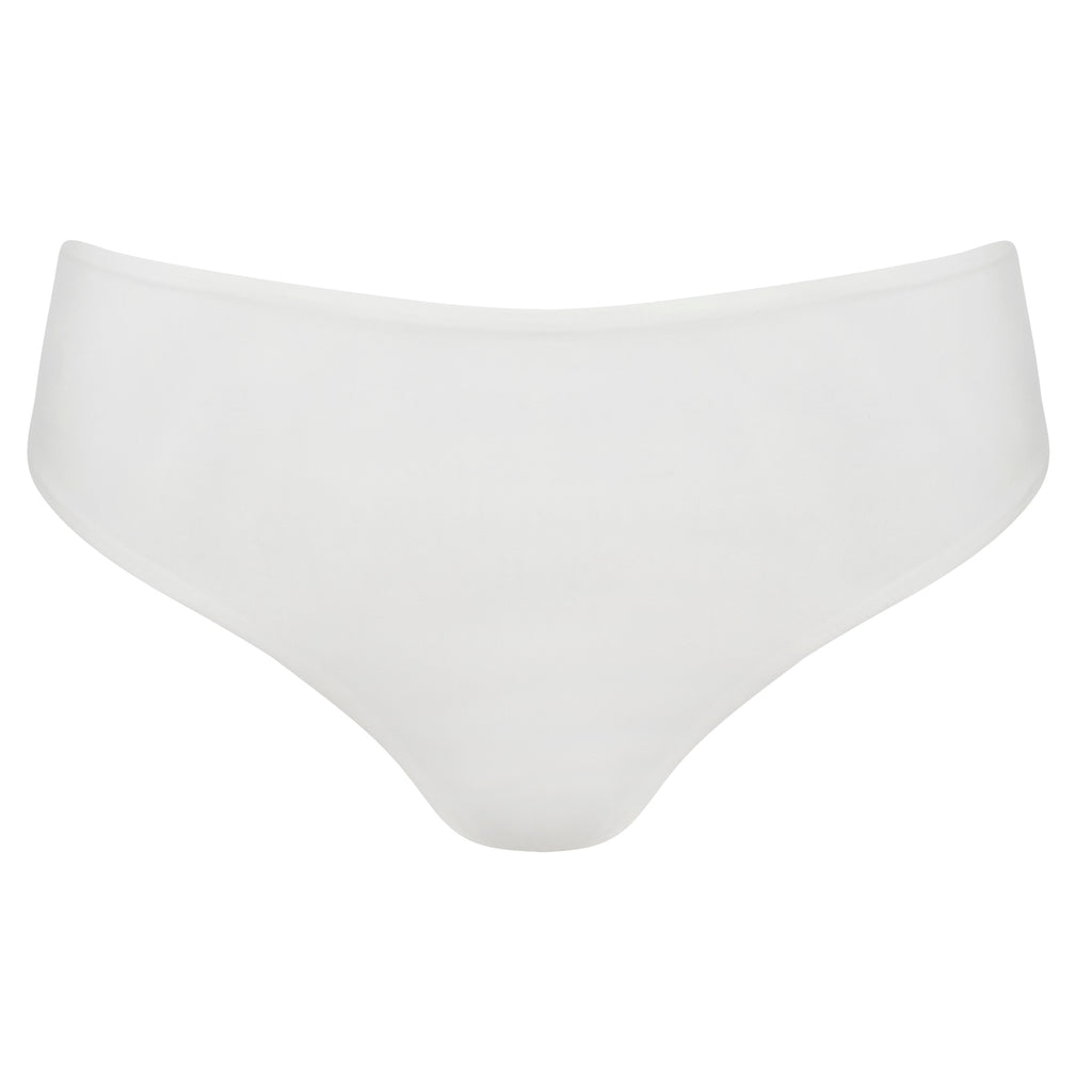 White High Waisted Bottom Thong | Myra Swim