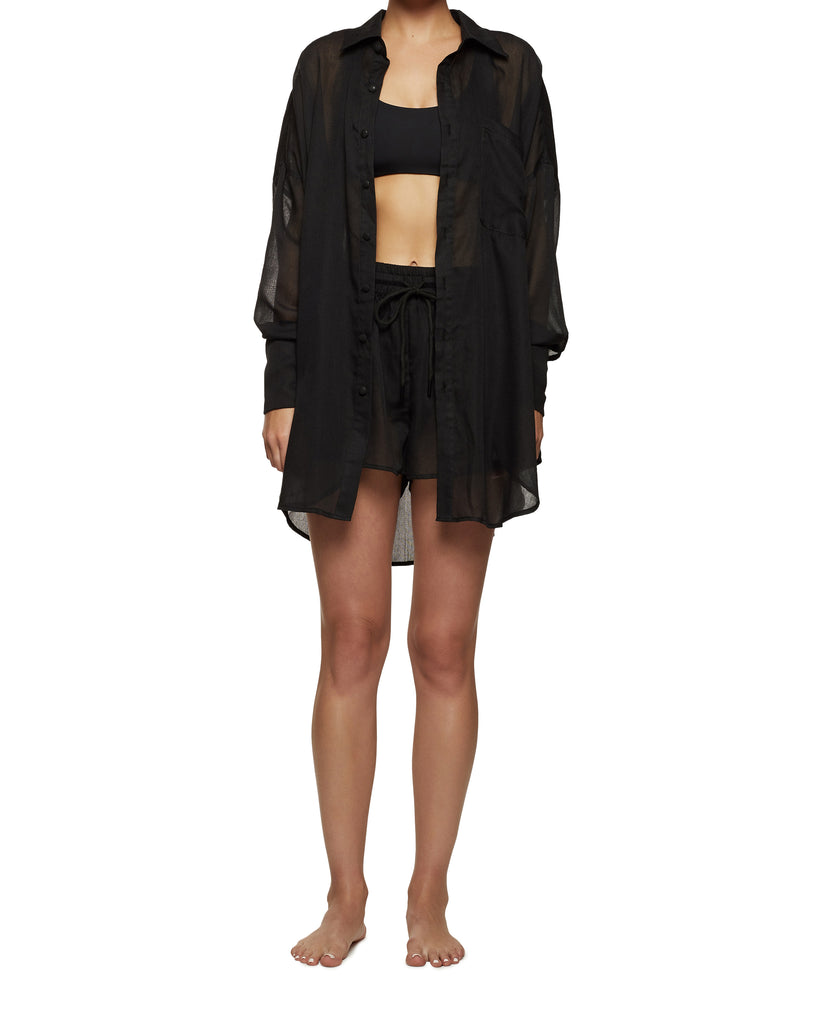 Resort Wear Women's Shorts Black | Myra Swim