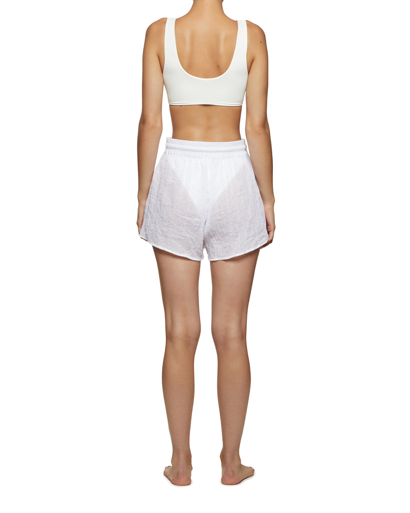 Resort Wear Women's Shorts White | Myra Swim  Edit