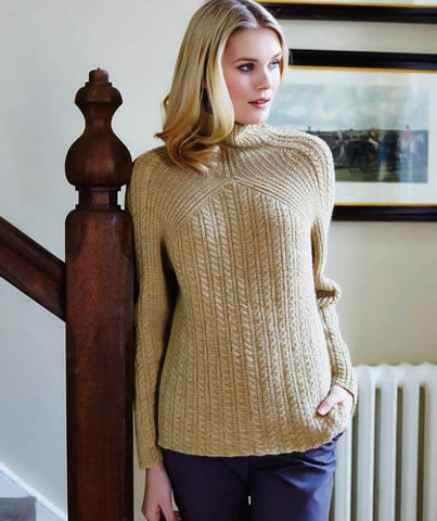 Cable and Rib Sweater