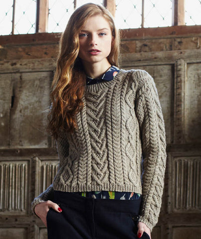 Cable Paneled Sweater