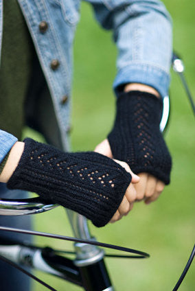 Lace-Back Fingerless Gloves