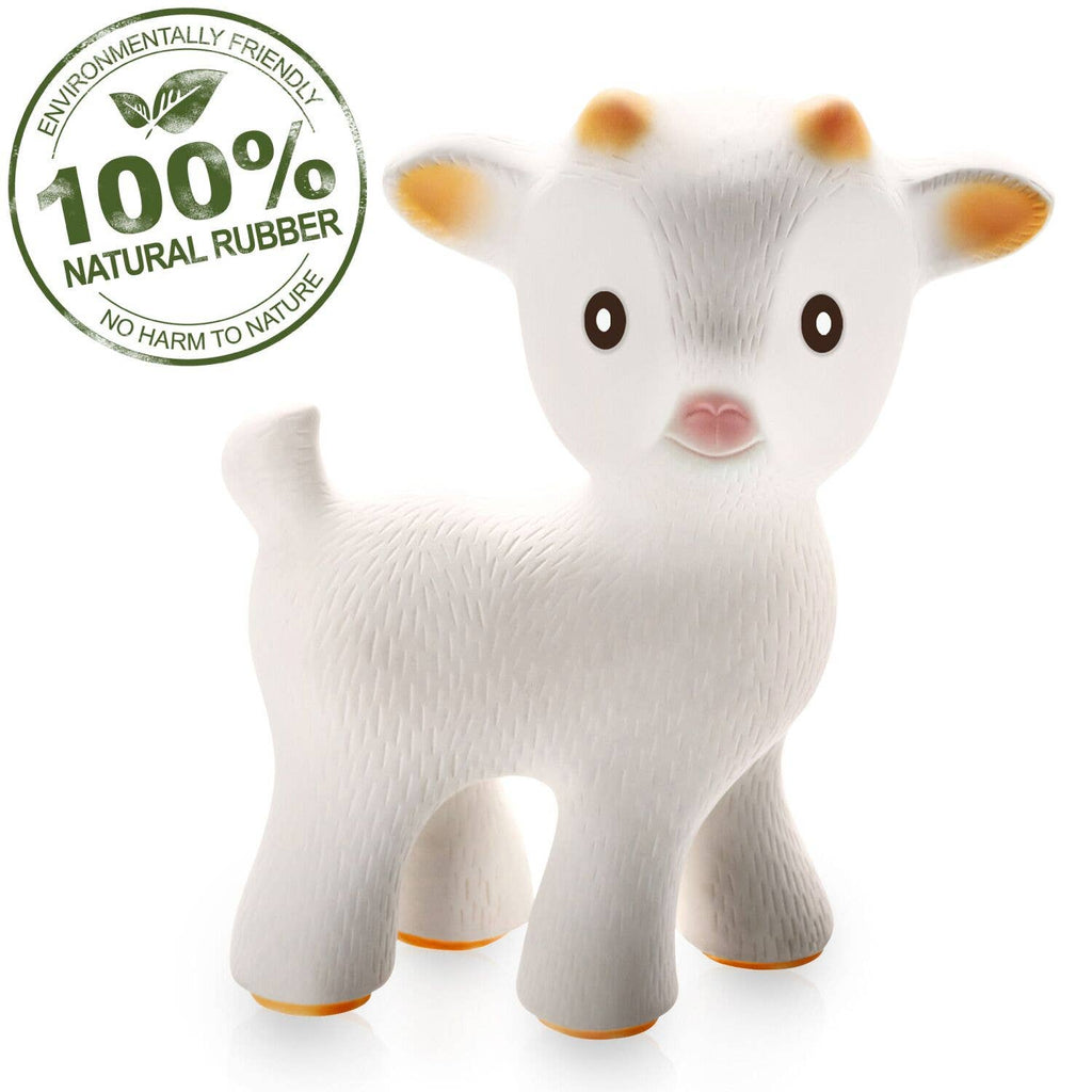 CaaOcho - Sola the Goat Teething Toy - 100% Pure Natural Rubber