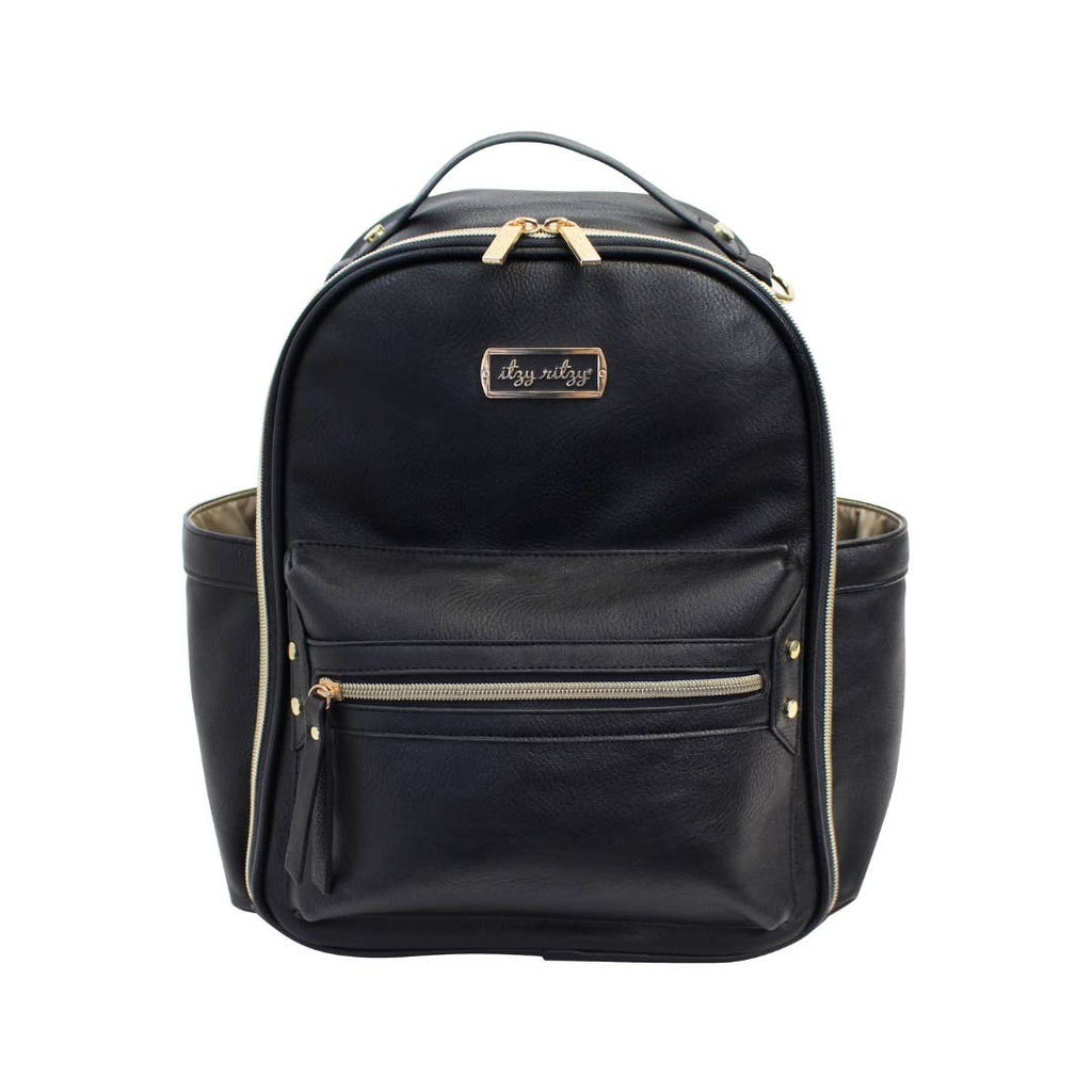 Itzy Ritzy - Black Mini Diaper Bag Backpack