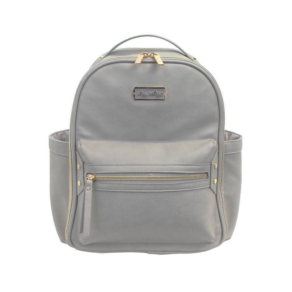Itzy Ritzy - Gray Mini Diaper Bag Backpack
