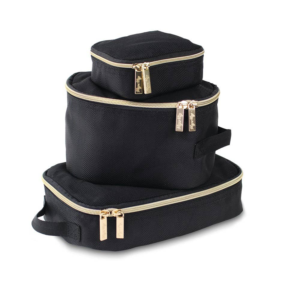 Itzy Ritzy - *NEW* Black & Gold Packing Cubes