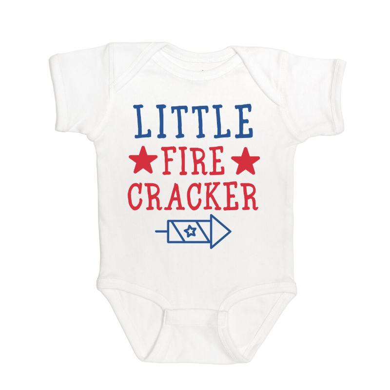 Sweet Wink - Baby Clothes - Little Firecracker Boy Bodysuit - 4th of July