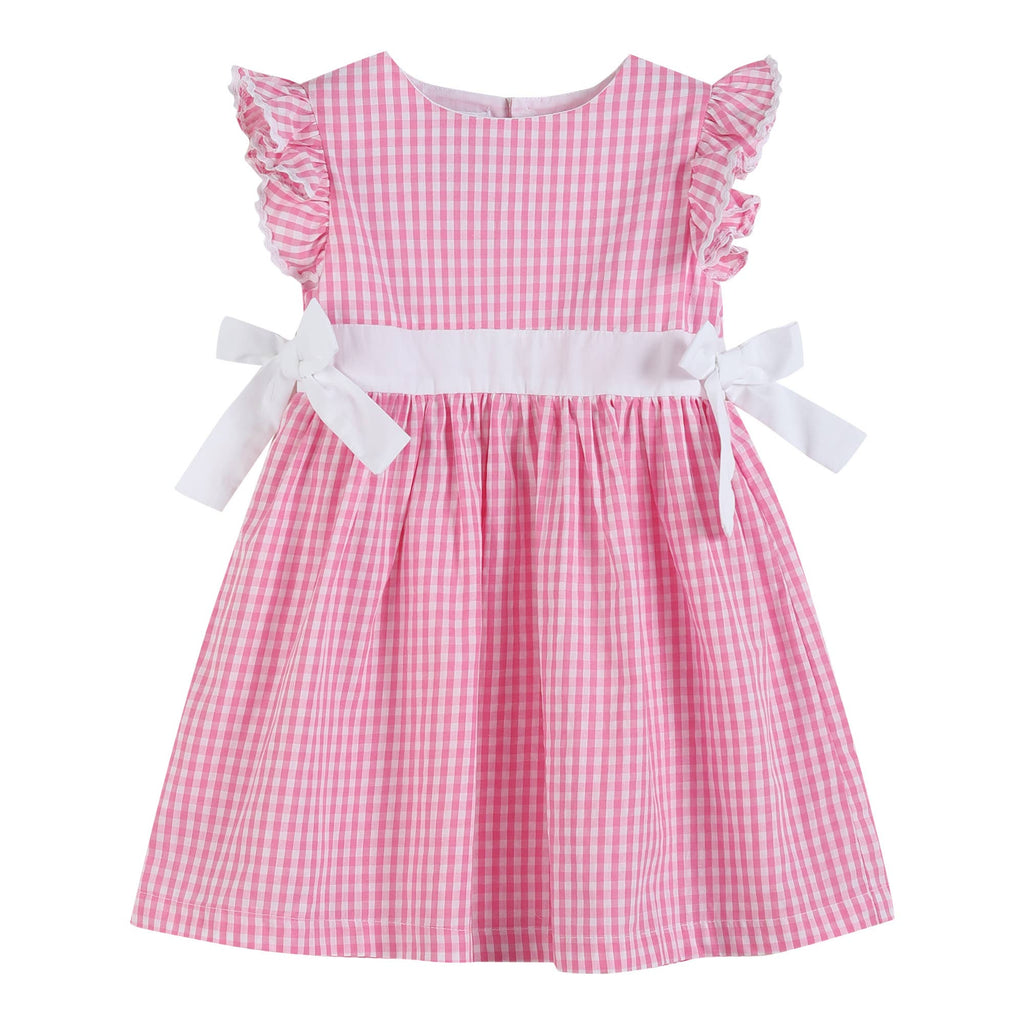 Lil Cactus - Light Pink Gingham A-Line Dress