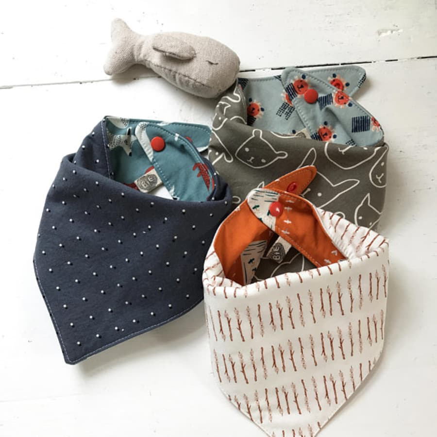 The Bird + Elephant - Woodland Camp Collection Bibs - ALL STYLES