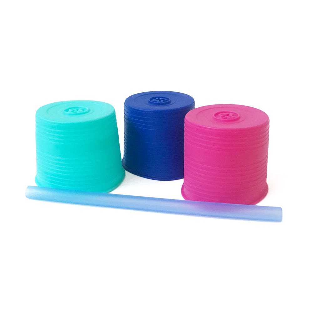 GoSili - Universal Straw Tops - 3 Packs