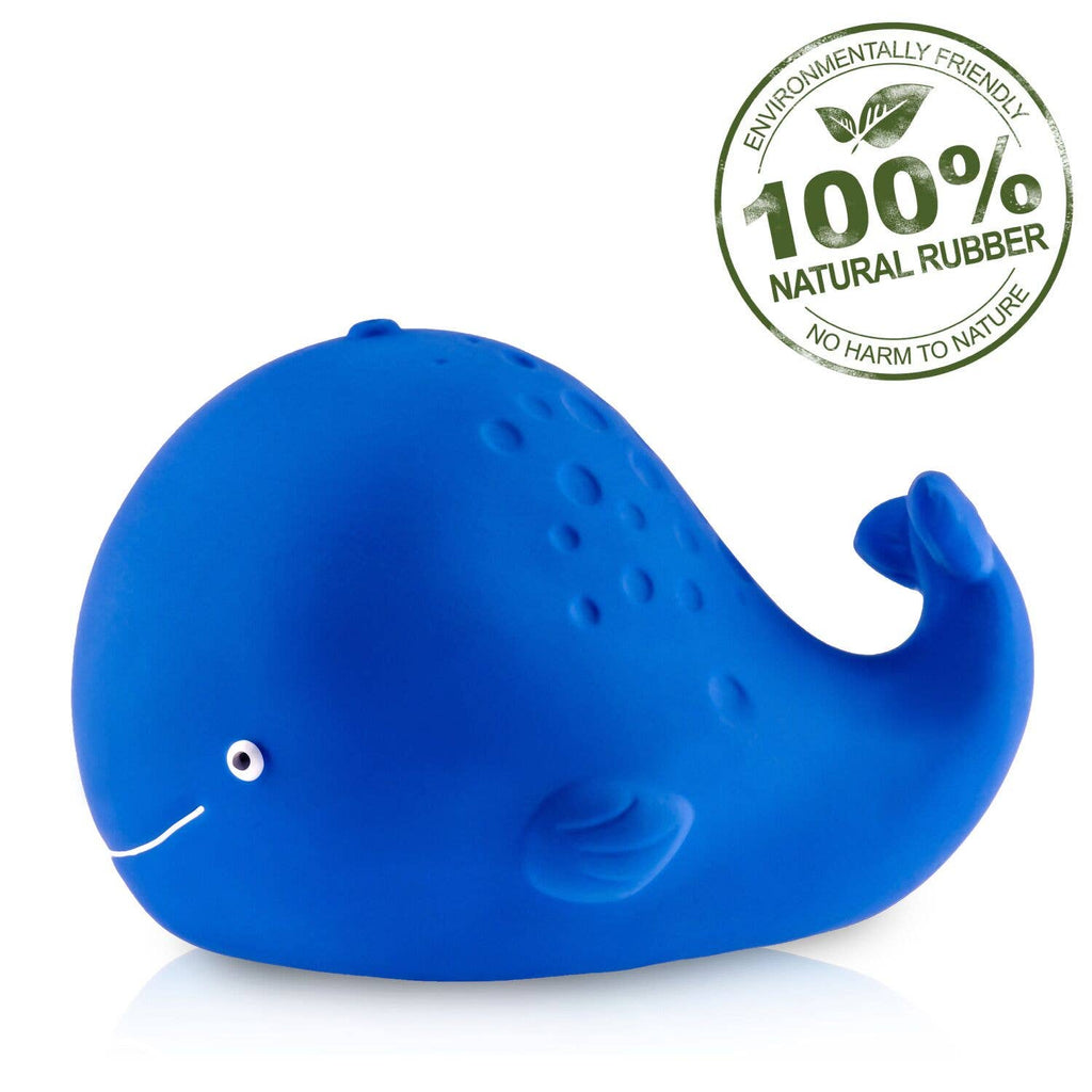 CaaOcho - Kala the Whale Bath Toy Hole Free - 100% Pure Natural Rubber
