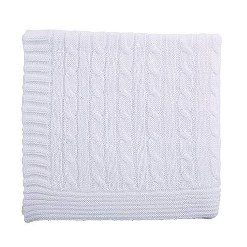 Stephan Baby by Creative Brands - Heirloom White Swtr Blanket