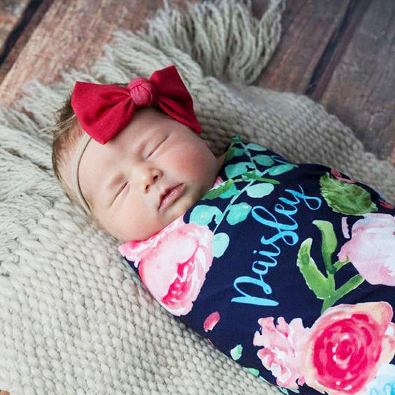 Large Swaddle - Personalized - Girls - ALL Styles- 3-6 Weeks Delivery