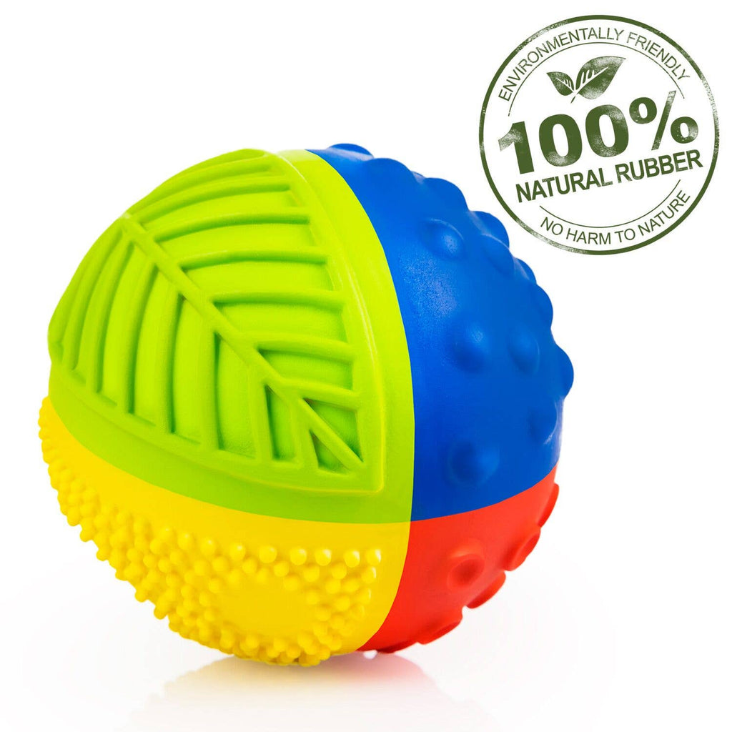 "CaaOcho - Sensory Ball Rainbow 3"" - 100% Pure Natural Rubber"