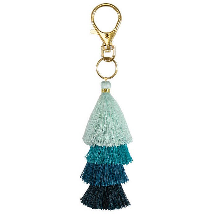 PAPAYA! - Waterfall Tassel Clip - Aquamarine