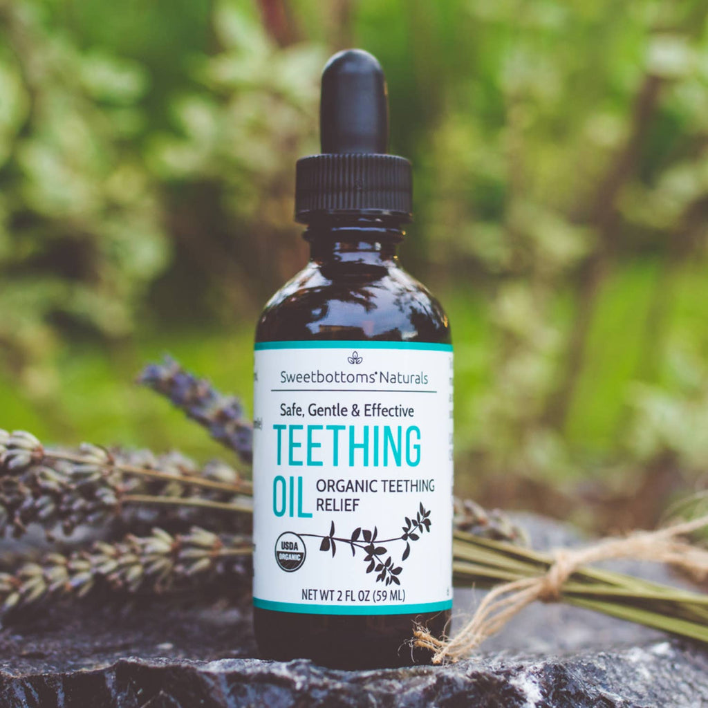 Sweetbottoms Naturals - Organic Teething Oil for Immediate Relief