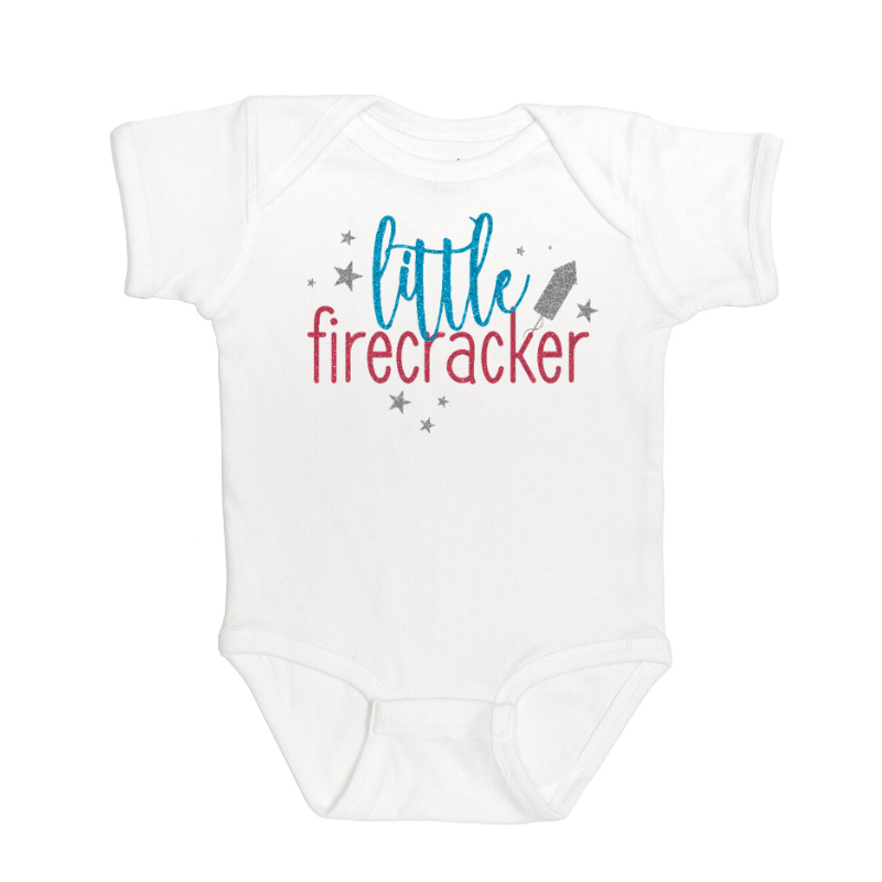 Sweet Wink - Kids Clothes - Little Firecracker Girl Bodysuit 4th of July