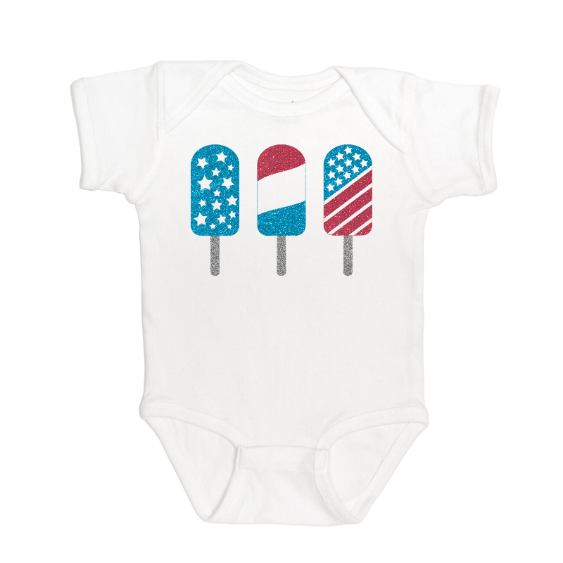 Sweet Wink - Baby Clothes - Popsicle Bodysuit - 4th of July