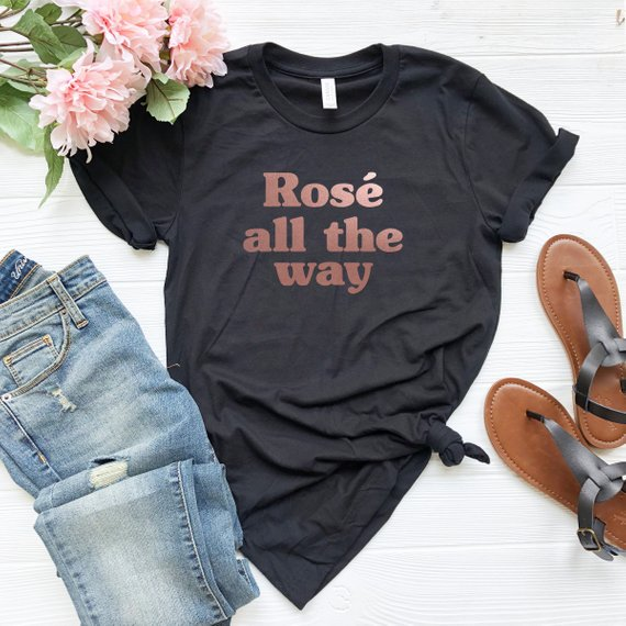 Rose All The Way Shirt - Black
