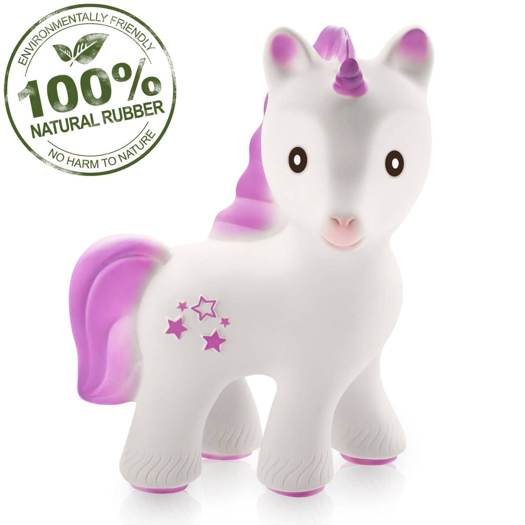 CaaOcho - Mira the Unicorn Teether Lavender - 100% Pure Natural Rubber
