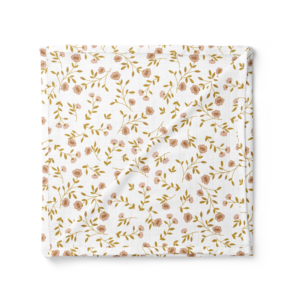 Mini Scout, LLC - Muslin Swaddle Baby Blanket – Wild Flower