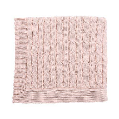 Stephan Baby by Creative Brands - Heirloom Pink Swtr Blanket