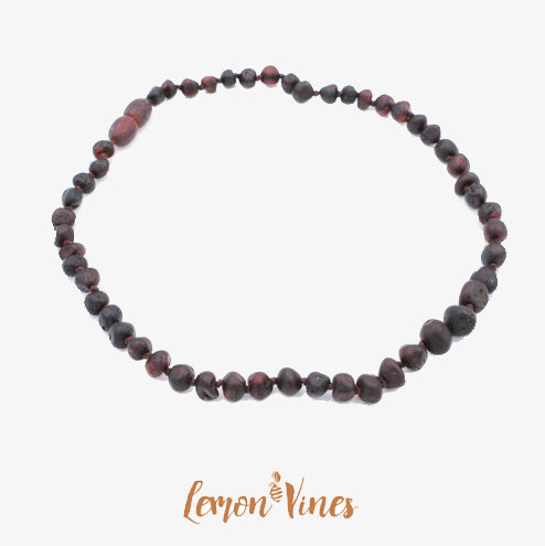 Lemon Vines Amber - Unpolished Cherry Round