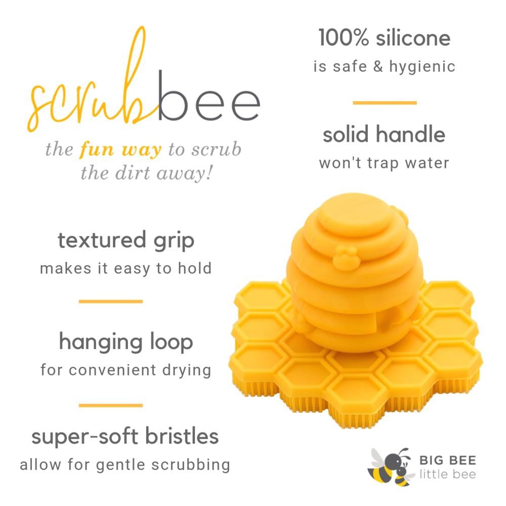 Big Bee, Little Bee - ScrubBEE Silicone Body Scrubber for Infants-Preschoolers