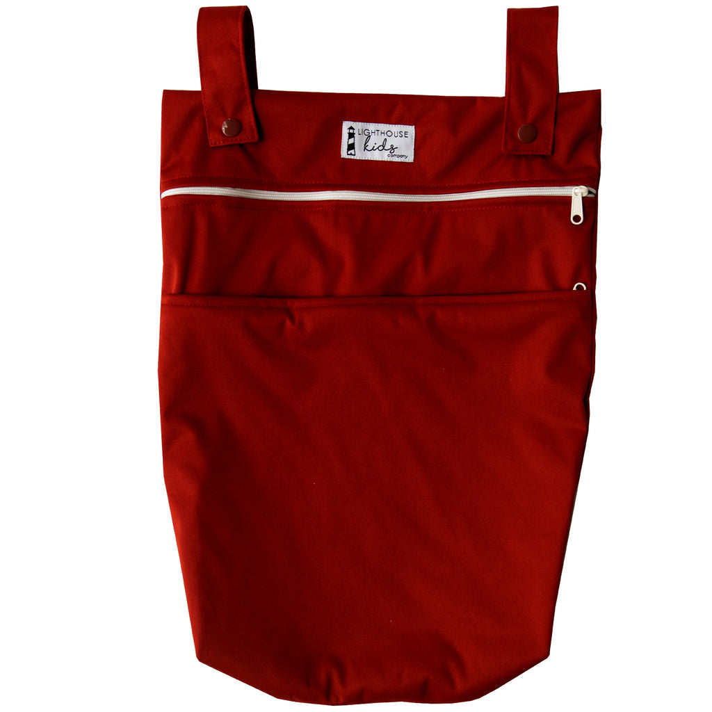 LKC SIGNATURE™️ - Double Pocket Wet Bag - CRANBERRY