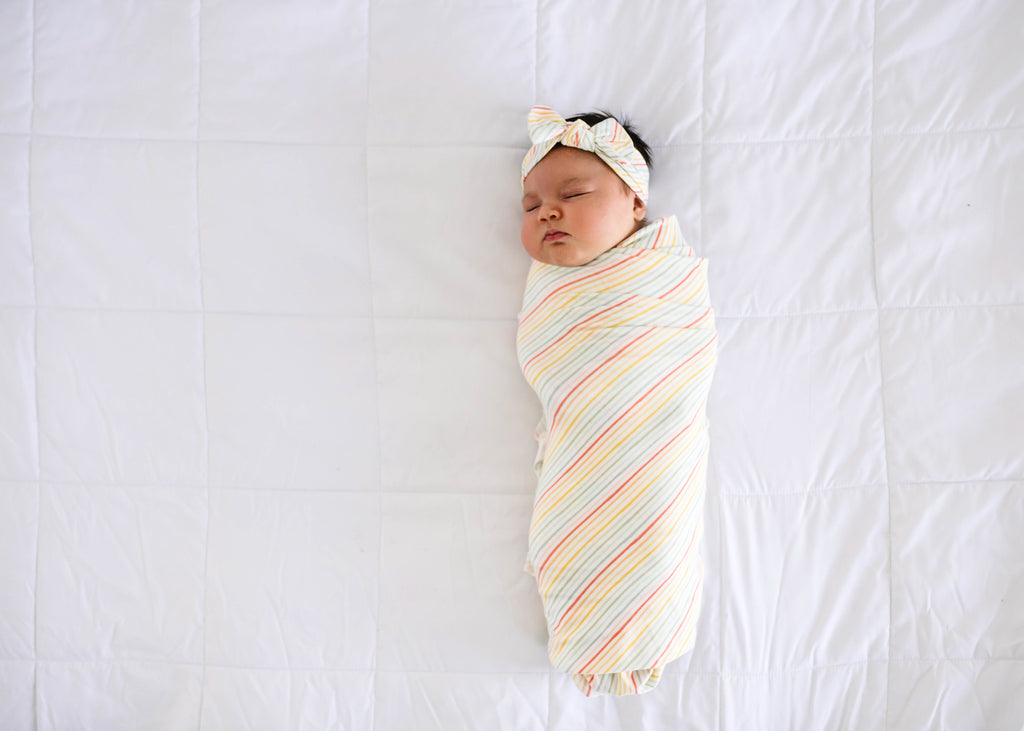 Copper Pearl Knit Swaddle Blanket- Rainee