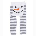 Doodle Pants - Snowman Stripes Leggings