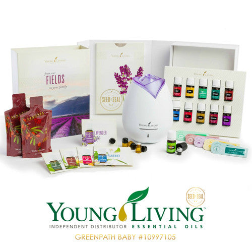 Young Living Starter Kit - Contains Diffuser and Essential Oils
