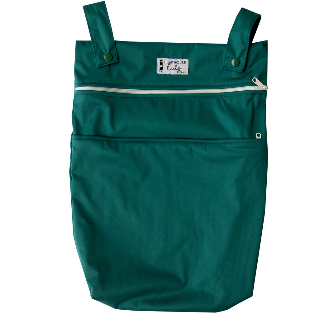 LKC SIGNATURE™️ - Double Pocket Wet Bag - EVERGREEN