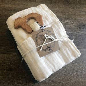 The Bird + Elephant - Muslin Lovey Blanket - ALL COLORS