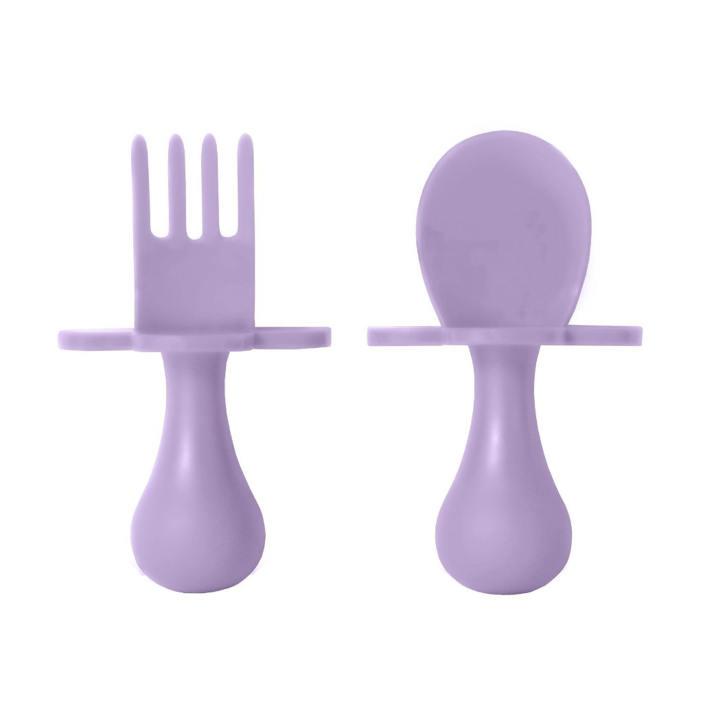 First Self Feeding Utensil Set of Spoon and Fork for Babies - All Colors