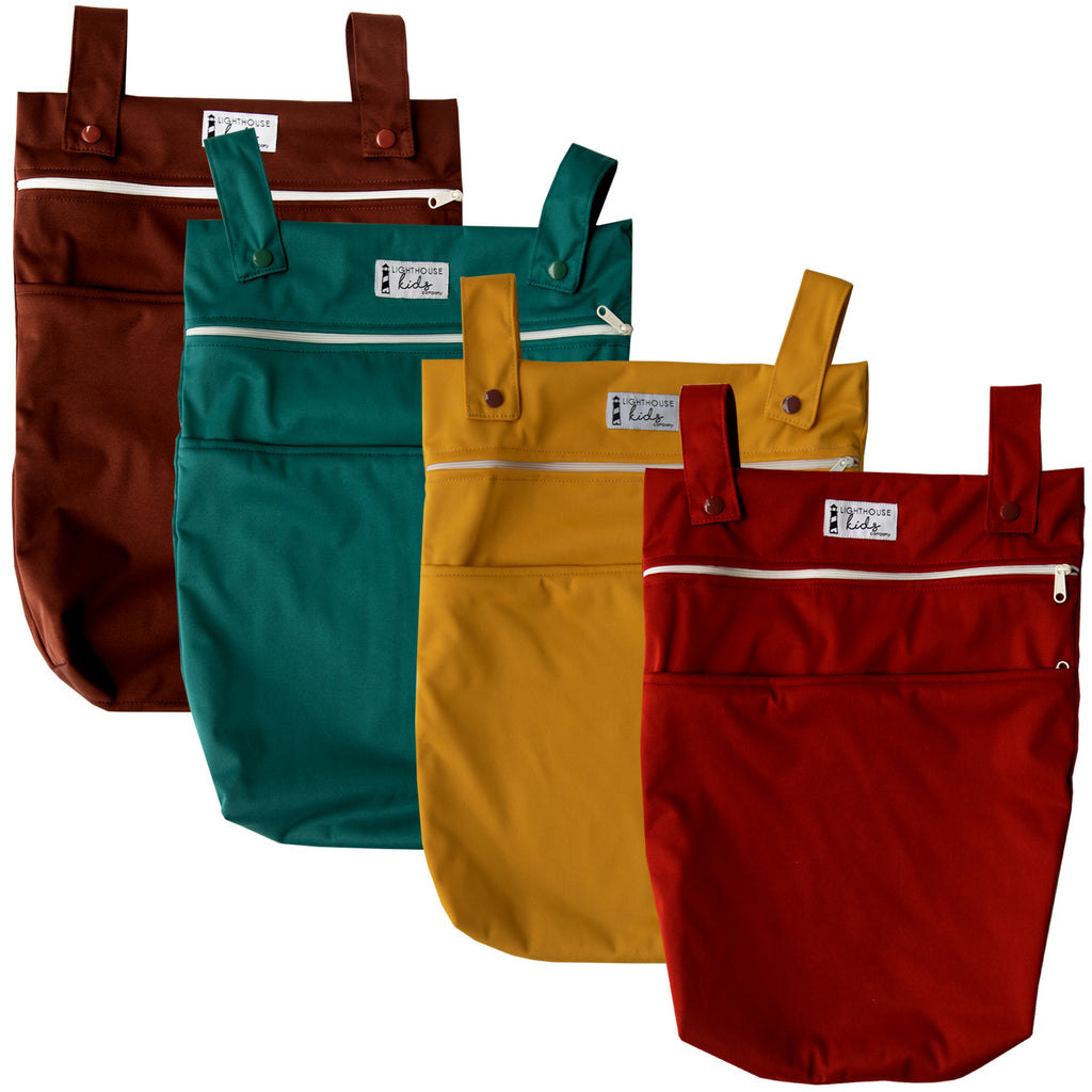 LKC SIGNATURE™️ - Double Pocket Wet Bag - FALL SOLIDS BUNDLE