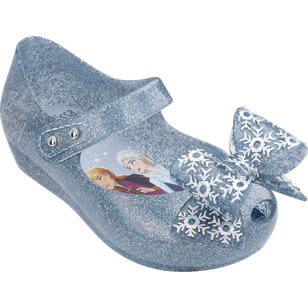 "Mini Melissa ""Frozen"" Silver Glitter Mary Jane"