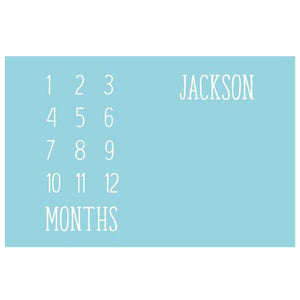 Monthly Memory Blanket - Personalized - Boys - ALL STYLES - 3-6 Week Delivery