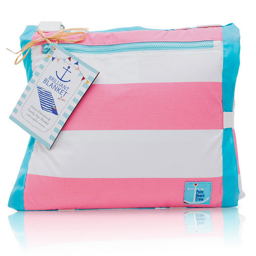 Palm Beach Crew Brilliant Blanket - Cabana Pink Stripe - GreenPath Baby - 1