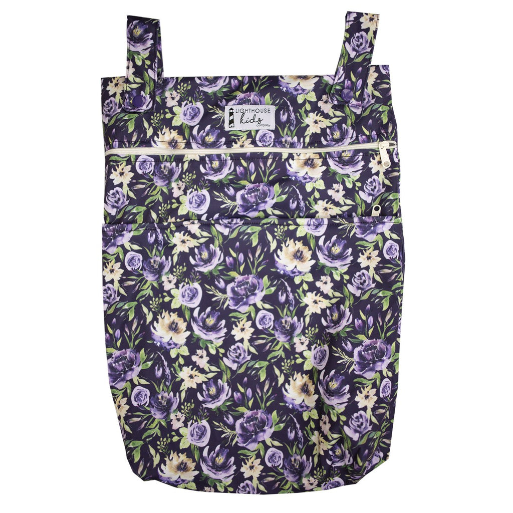 LKC SIGNATURE™️ - Double Pocket Wet Bag - Purple Vintage