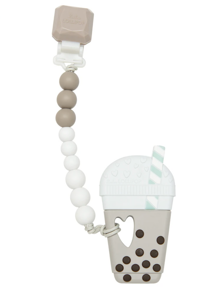 Loulou Lollipop - Milk Tea Bubble Tea Teether Set Gem