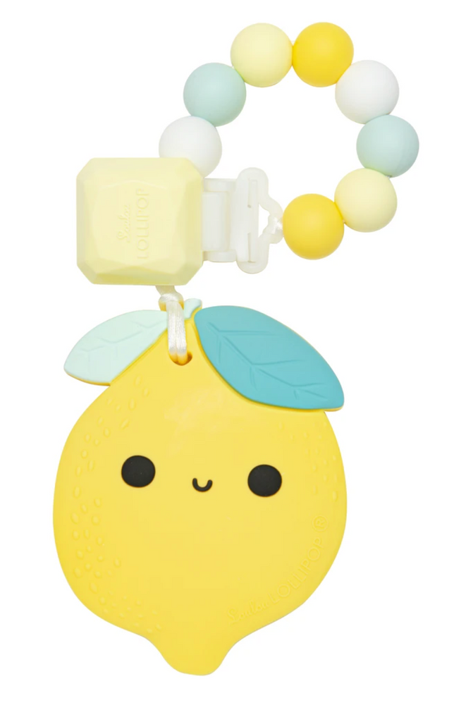 Loulou Lollipop - Lemon Silicone Teether Set