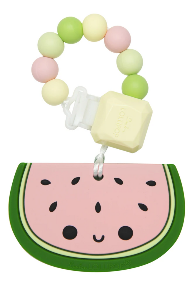 Loulou Lollipop - Watermelon Silicone Teether Set