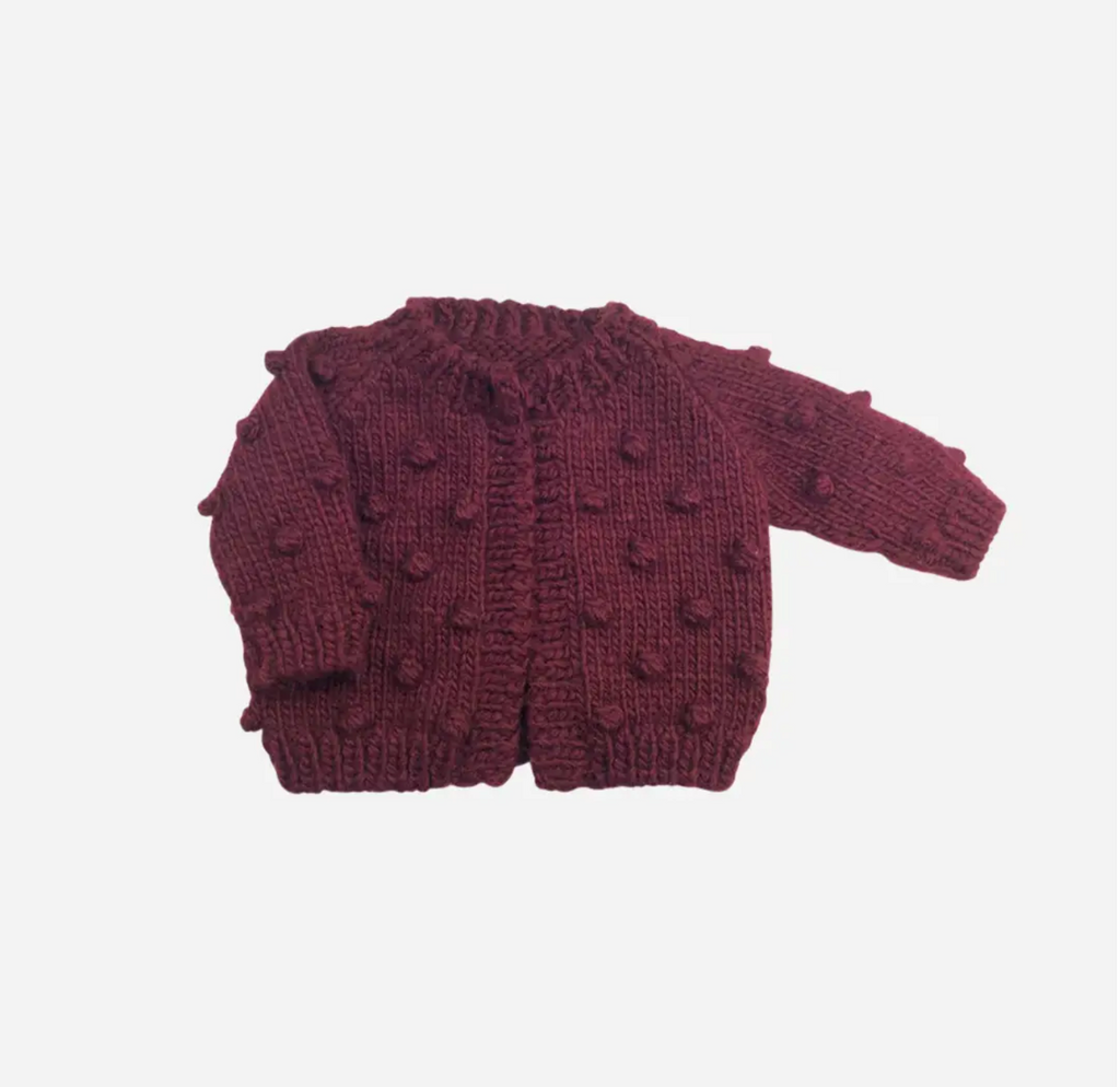 The Blueberry Hill - Popcorn Cardigan | Pomegranate