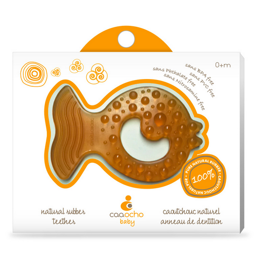 CaaOcho Natural Rubber Teether Fish