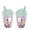 Bubble Tea Silicone Teether with Holder
