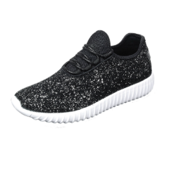 Glitter Sneakers - Starry Night (Black) Sparkle
