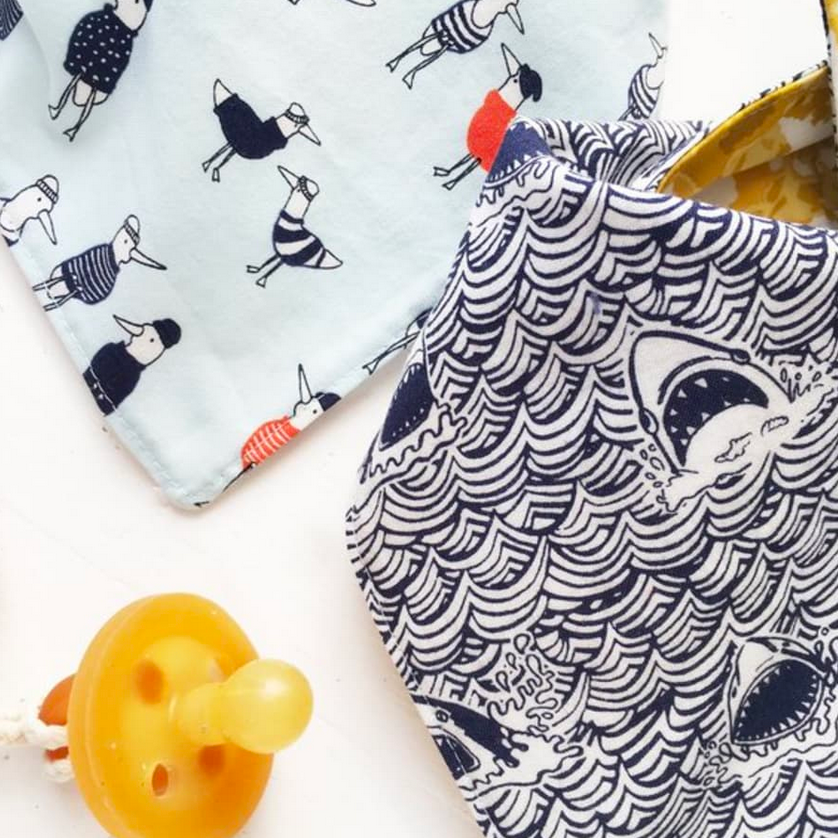 The Bird + Elephant - Beach Baby Bib